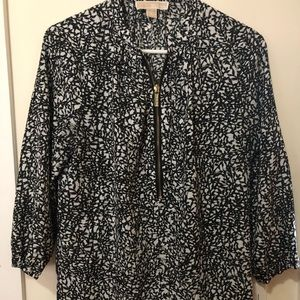 Michael Kors black & white blouse